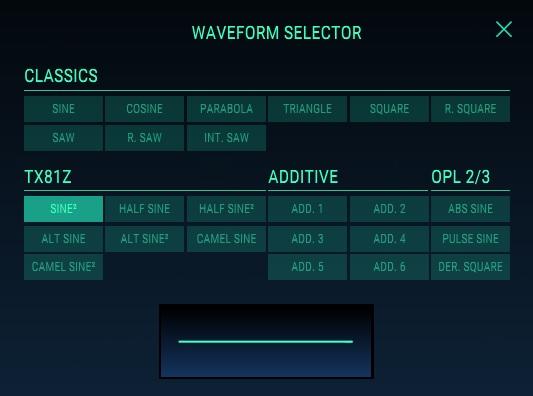 waveform selector